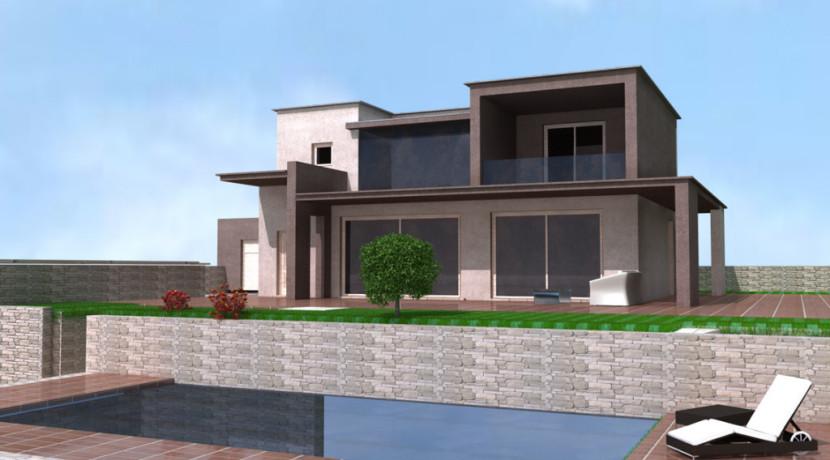 Villa singola zona collinare armanni real estate for Piani a due piani in mattoni a vista